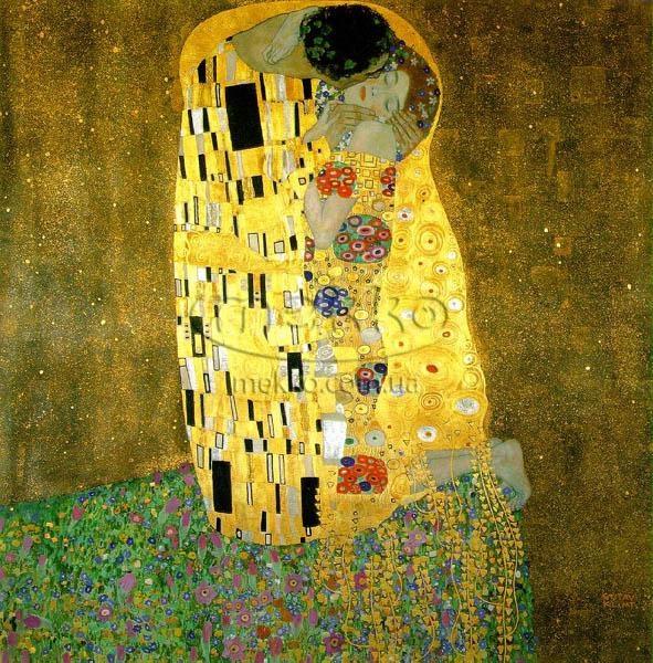 Картина Поцілунок, Густав Клімт