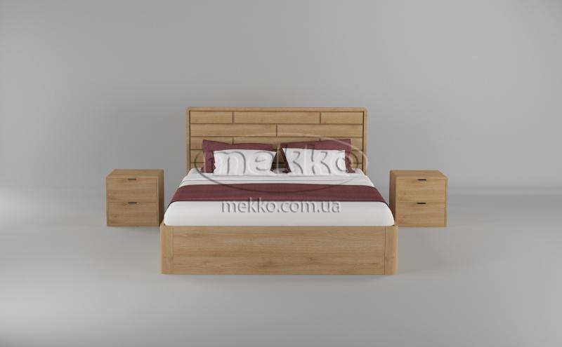 Ліжко Лауро з Підйомником (масив бука /масив дуба) T.Q.Project-4